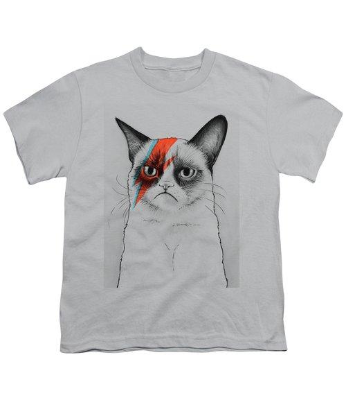 Grumpy Cat As David Bowie Youth T-Shirt