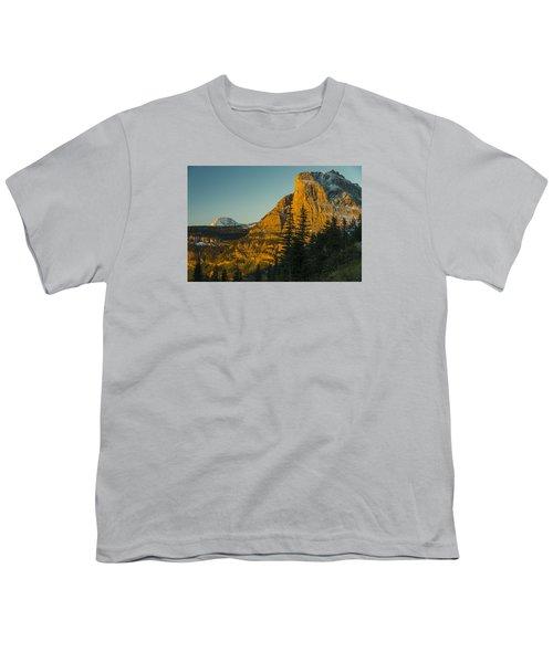 Heavy Runner Mountain Youth T-Shirt by Gary Lengyel