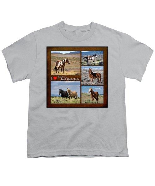 I Love Wild Horses Of Sand Wash Basin Youth T-Shirt