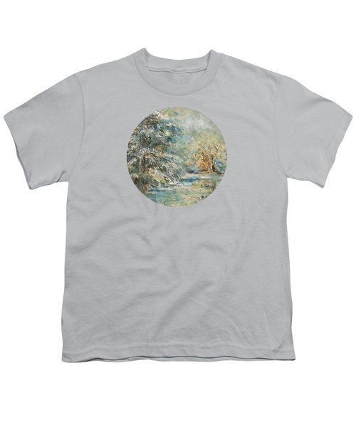 In The Snowy Silence Youth T-Shirt by Mary Wolf