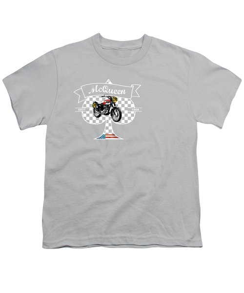 Isdt Triumph Steve Mcqueen Youth T-Shirt by Mark Rogan
