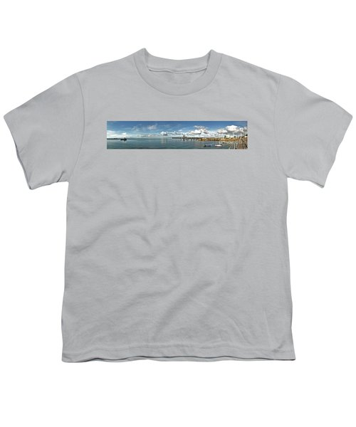 Youth T-Shirt featuring the photograph Jetty To Shore by Stephen Mitchell