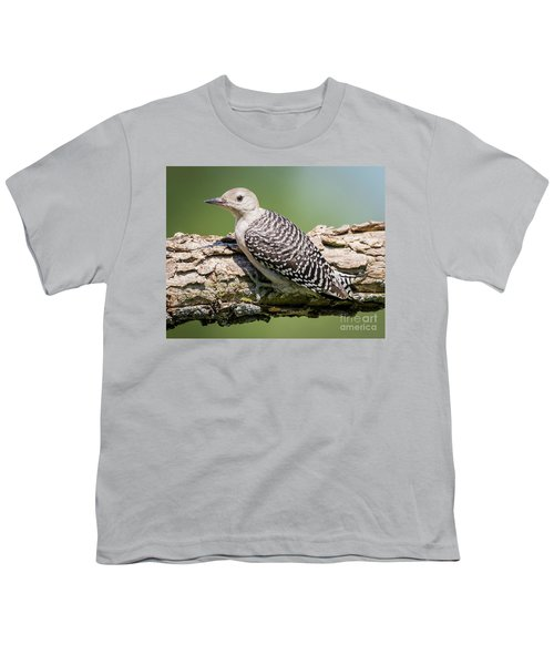 Juvenile Red-bellied Woodpecker Youth T-Shirt by Ricky L Jones
