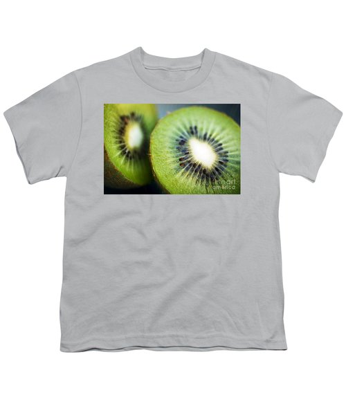 Kiwi Fruit Halves Youth T-Shirt by Ray Laskowitz - Printscapes