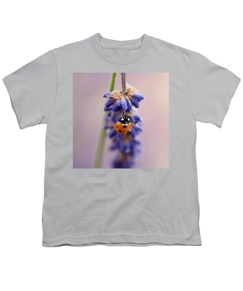 Ladybird On Norfolk Lavender  #norfolk Youth T-Shirt by John Edwards