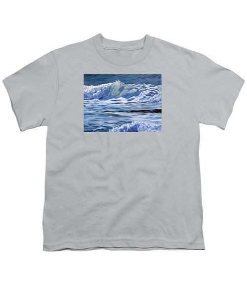 Youth T-Shirt featuring the painting May Wave by Lawrence Dyer