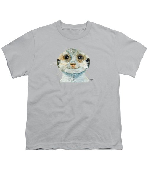 Meerkat Youth T-Shirt by Angeles M Pomata