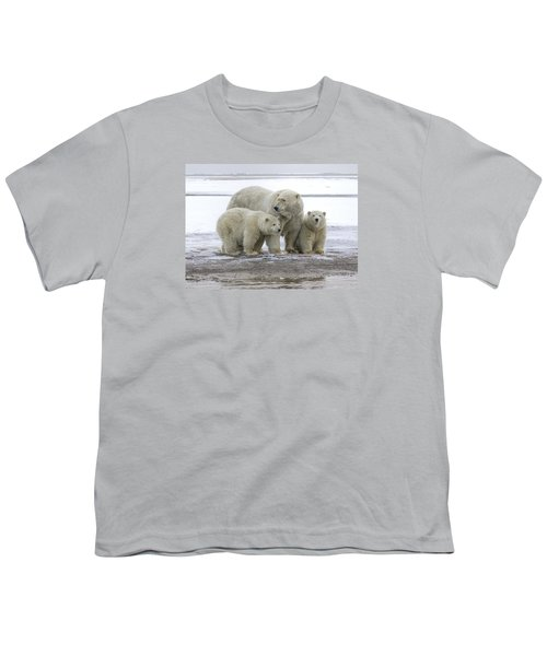 Mother And Cubs In The Arctic Youth T-Shirt