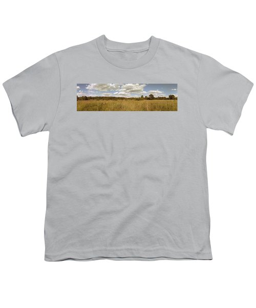 Natural Meadow Landscape Panorama. Youth T-Shirt