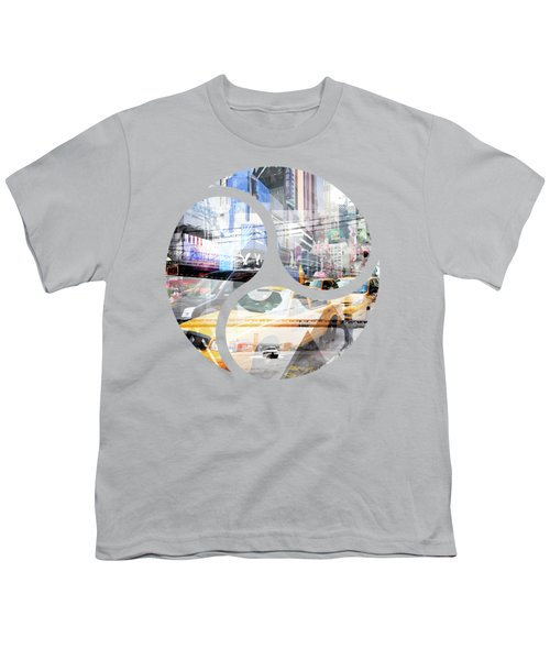 New York City Geometric Mix No. 9 Youth T-Shirt by Melanie Viola