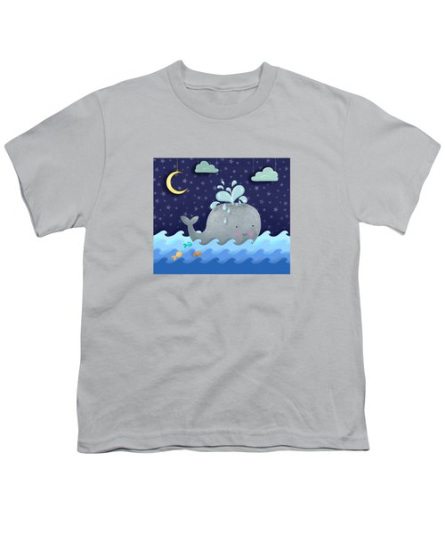 One Wonderful Whale With Fabulous Fishy Friends Youth T-Shirt by Little Bunny Sunshine