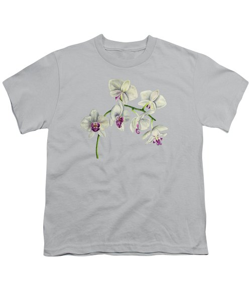 Orchid Watercolor Painting Youth T-Shirt