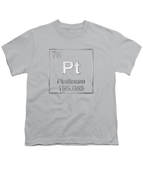 Periodic Table Of Elements - Platinum - Pt Youth T-Shirt
