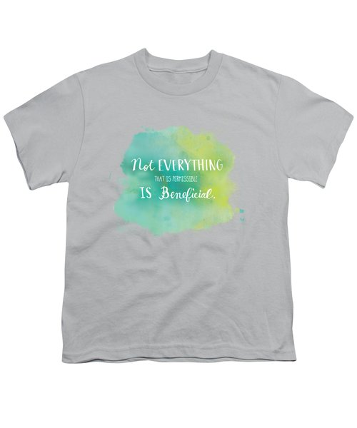 Permissible Youth T-Shirt by Nancy Ingersoll