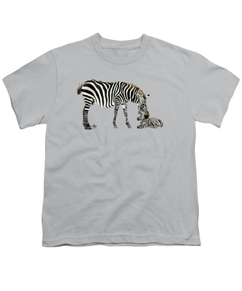 Plains Zebras Youth T-Shirt by Angeles M Pomata