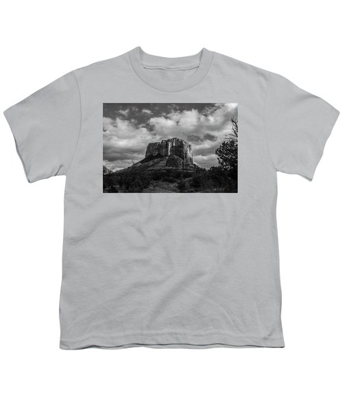 Red Rocks Sedona Bnw 1 Youth T-Shirt by David Haskett