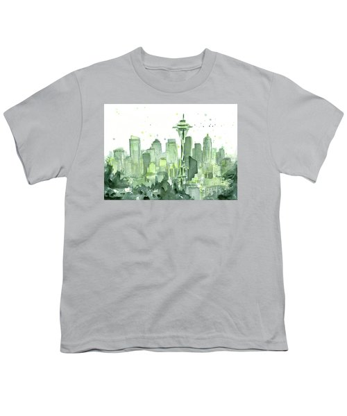 Seattle Watercolor Youth T-Shirt