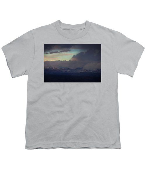 Sedona At Sunset With Red Rock Snow Youth T-Shirt