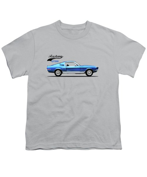 Shelby Mustang Gt500 1968 Youth T-Shirt