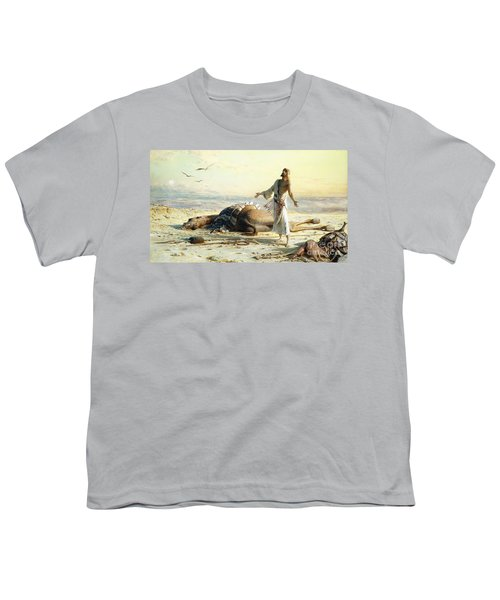 Shipwreck In The Desert Youth T-Shirt by Carl Haag