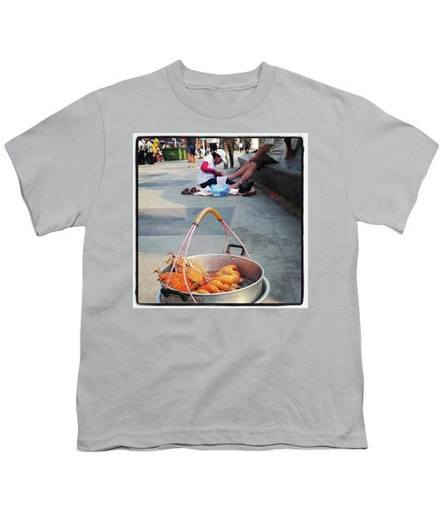 Youth T-Shirt featuring the photograph Shrimping And Crabbing On The by Mr Photojimsf