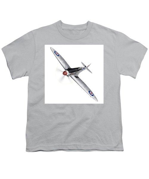 Silver Spitfire Pr Xix Cutout Youth T-Shirt by Gary Eason