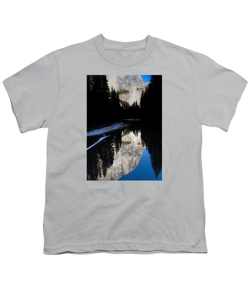 Youth T-Shirt featuring the photograph Snow Sneaks In by Lora Lee Chapman
