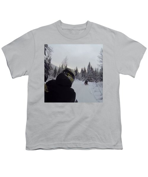 Snowmobile Tour At Cougar Mountain • Youth T-Shirt
