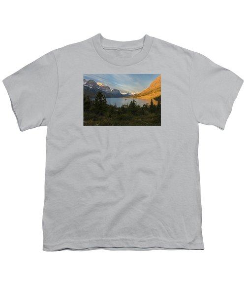 St. Mary Lake Youth T-Shirt by Gary Lengyel