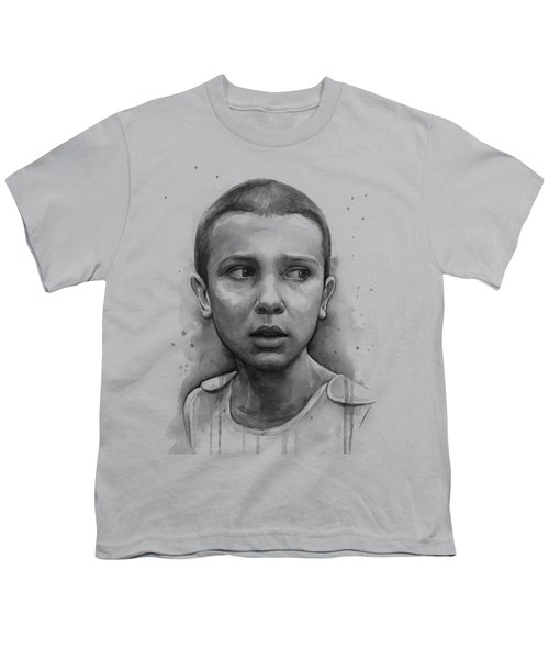 Stranger Things Eleven Upside Down Art Portrait Youth T-Shirt