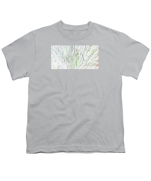 Succulent Leaves In High Key Youth T-Shirt by Nareeta Martin