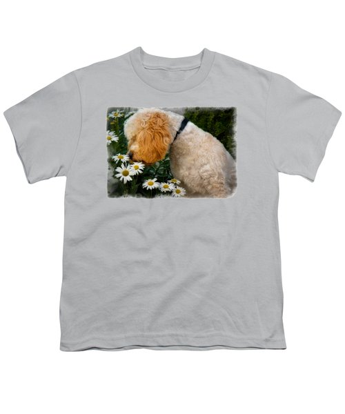 Taking Time To Smell The Flowers Youth T-Shirt by Susan Candelario