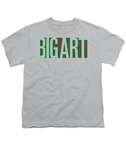 The Big Art - Pure Emerald On Cotton Youth T-Shirt by Serge Averbukh
