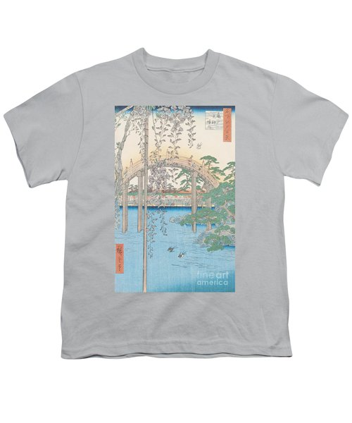 The Bridge With Wisteria Youth T-Shirt by Hiroshige