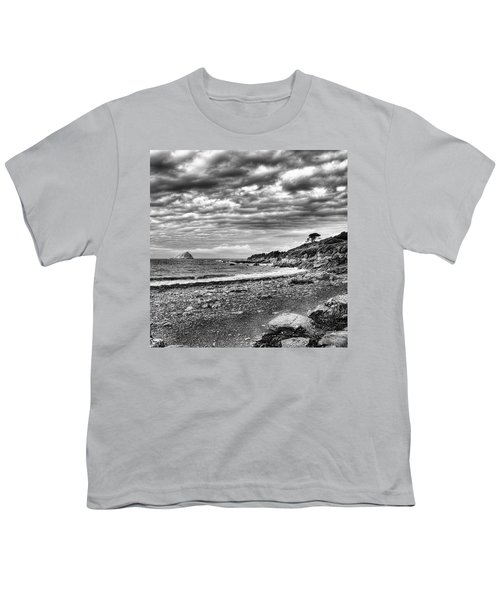 The Mewstone, Wembury Bay, Devon #view Youth T-Shirt by John Edwards