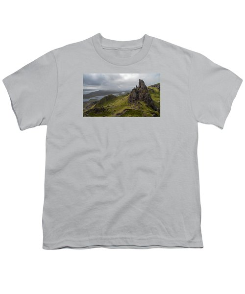 The Old Man Of Storr, Isle Of Skye, Uk Youth T-Shirt by Dubi Roman