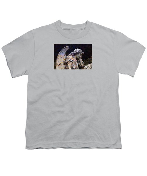 Tired Angel Youth T-Shirt by Nareeta Martin