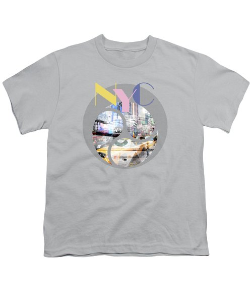 Trendy Design New York City Geometric Mix No 1 Youth T-Shirt by Melanie Viola
