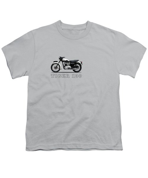Triumph Tiger 110 1959 Youth T-Shirt by Mark Rogan