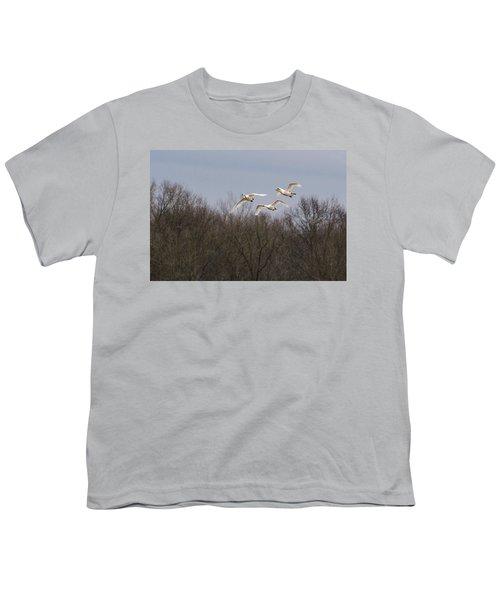 Tundra Swan Trio Youth T-Shirt