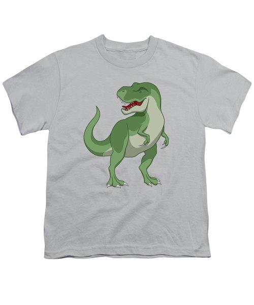 Tyrannosaurus Rex Dinosaur Green Youth T-Shirt