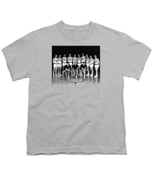 University Of Michigan Basketball Team 1960-61 Youth T-Shirt by Mountain Dreams