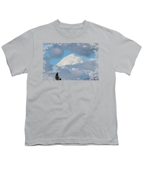 Up In The Clouds Youth T-Shirt by Di Designs