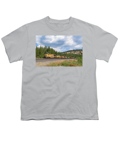 Youth T-Shirt featuring the photograph Up2650 Westbound From Donner Pass by Jim Thompson