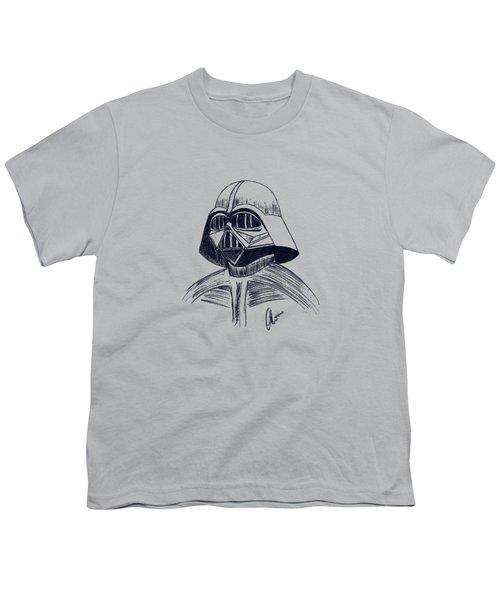 Vader Sketch Youth T-Shirt by Chris Thomas