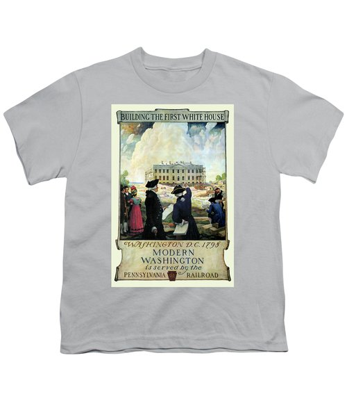 Washington D C Vintage Travel 1932 Youth T-Shirt by Daniel Hagerman