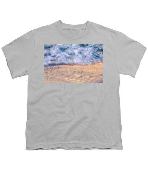 Youth T-Shirt featuring the photograph Wave Abstract 3, Hoi An, 2014 by Hitendra SINKAR
