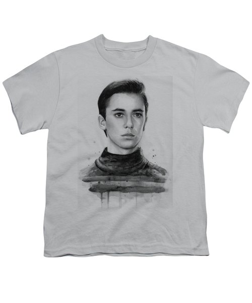 Wesley Crusher Star Trek Fan Art Youth T-Shirt by Olga Shvartsur