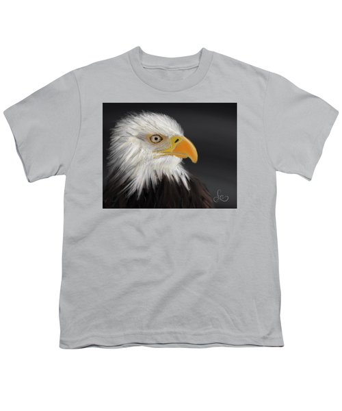 Youth T-Shirt featuring the pastel Bald Eagle by Fe Jones