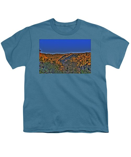 Youth T-Shirt featuring the photograph Sun On The Hills by Jonny D